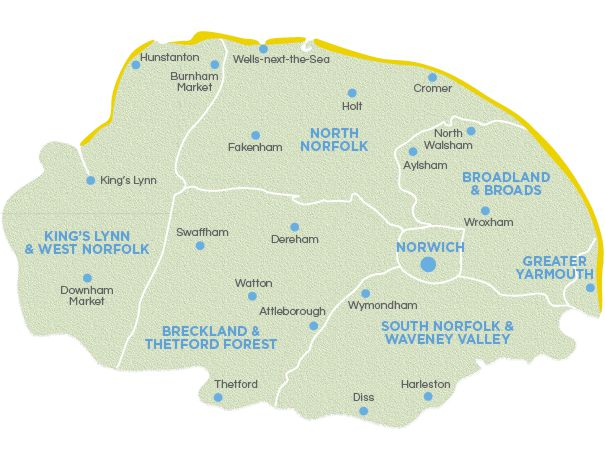 Areas Covered Emergency Plumber Norwich, Norfolk