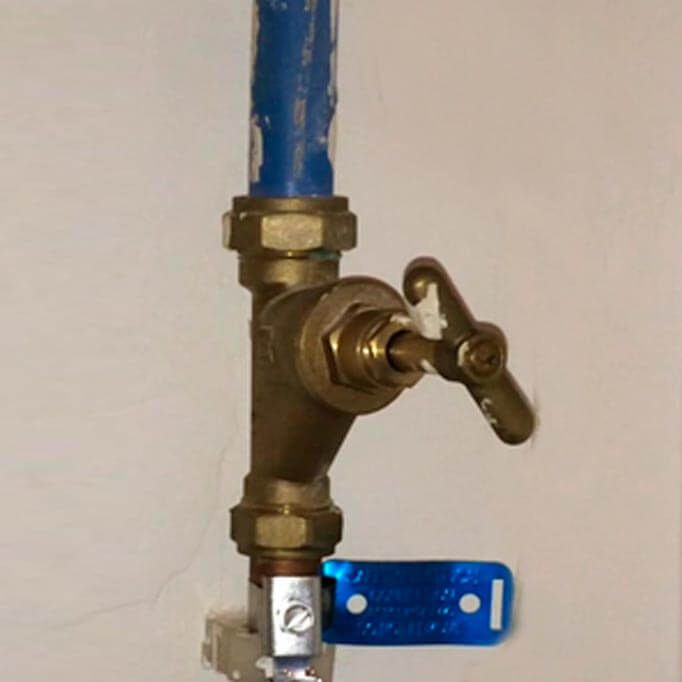 Finding stop cock valve